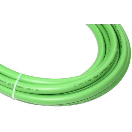 kábel - elektromos autó töltőkábel 3G6+2x0,5 zöld, EV07EE-H