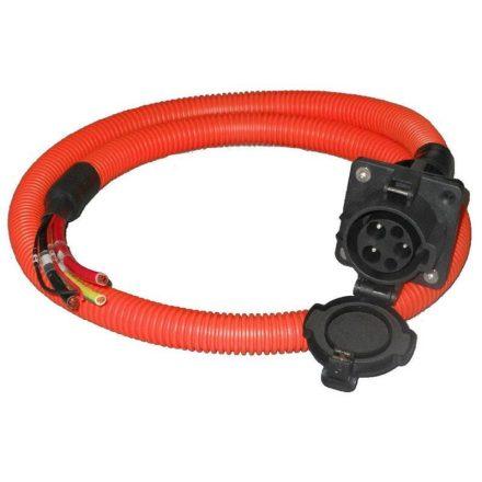 töltő csatlakozóaljzat Type 1 (SAE-J1772), AC, 16 A, + 1 m narancs kábel
